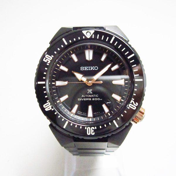 セイコー プロスペックス ダイバースキューバ 6R15-03F0 自動巻 ブラック メンズ 時計 腕時計 ★送料無料★【中古】