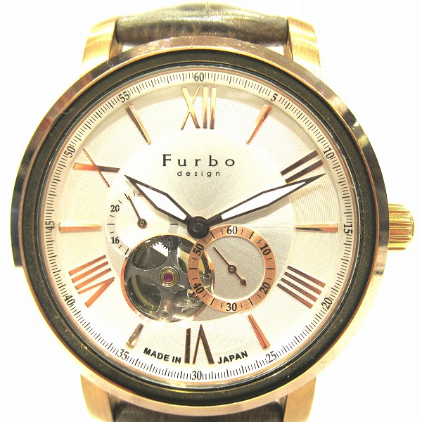フルボ デザイン 裏スケルトン F5026 自動巻き 時計 腕時計 メンズ ★送料無料★【中古】【あす楽】