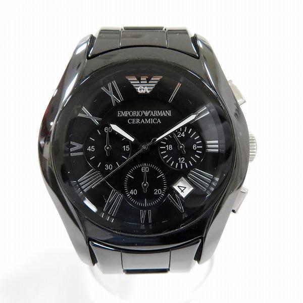アルマーニ セラミカ AR1400 時計 腕時計 メンズ クオーツ ブラック文字盤 ★送料無料★【中古】【あす楽】