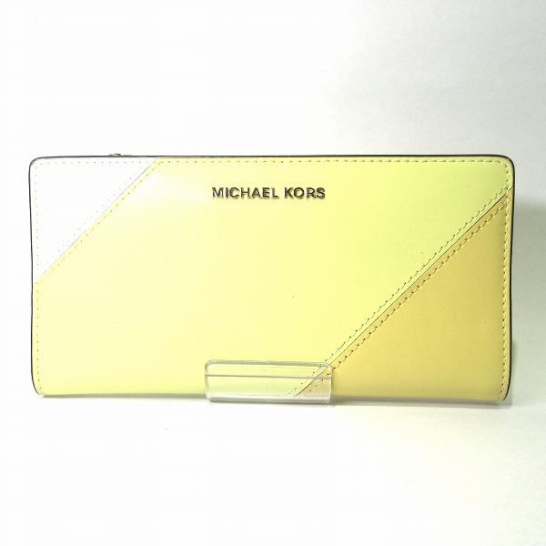 全品本物保証 ブランドアイテム S1 マイケルコース SALE レザー カード入れ付 送料無料 販売 2つ折り財布 中古 長財布 レディース あす楽