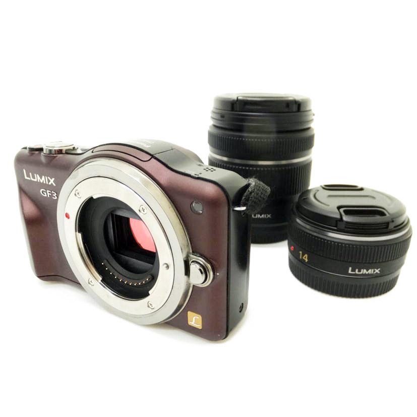 【中古】【DMC-GF3 ダブルレンズキット】Panasonic パナソニックデジタルカメラ【商品ランク】☆☆☆☆/中古良品/細かなキズやテカリ、汚れがありますが、多少の使用感のみで状態の良い中古品です。【中古保証書付き】【88】