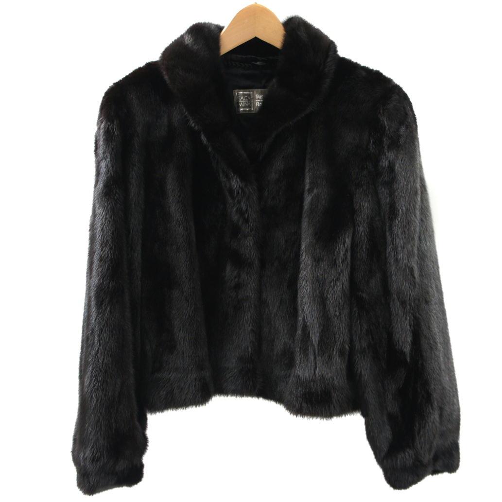 【Aランク】【サイズ:11】SAGA MINK サガミンク毛皮 ミンク ショートコート ジャケット【レディース】【中古】【75】