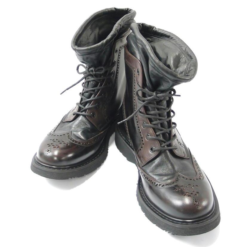 【Bランク】【約27.5cm】 PRADA プラダ ウィングチップ レースアップ ブーツ 【メンズ】【ブーツ】【中古】【83】