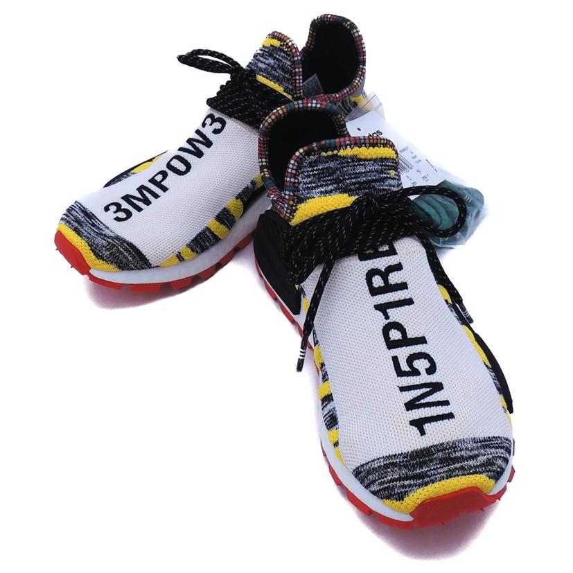 【SAランク】【26.5cm】 adidas アディダス Pharrell Williams × adidas Originals NMD Human Solar オリジナルス ヒューマン エヌエムディー ソーラー 型番:BB9527 【コラボ/ダブルネーム】【メンズ】【スニーカー】【中古】【69】