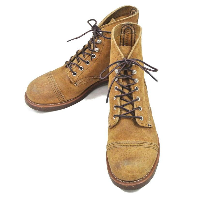 【Bランク】【約25.5cm】 RED WING レッドウィング IRON RANGE BOOTS アイアン レンジ ブーツ 型番:8113 【メンズ】【ブーツ】【中古】【71】
