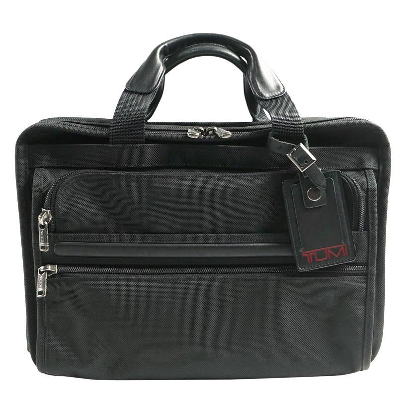 【ABランク】TUMI トゥミ ALPHA エッセンシャル ビジネスバッグ 26130D4 ブラック【ハンドバッグ】【ビジネスバッグ】【メンズ □】【中古】【79】
