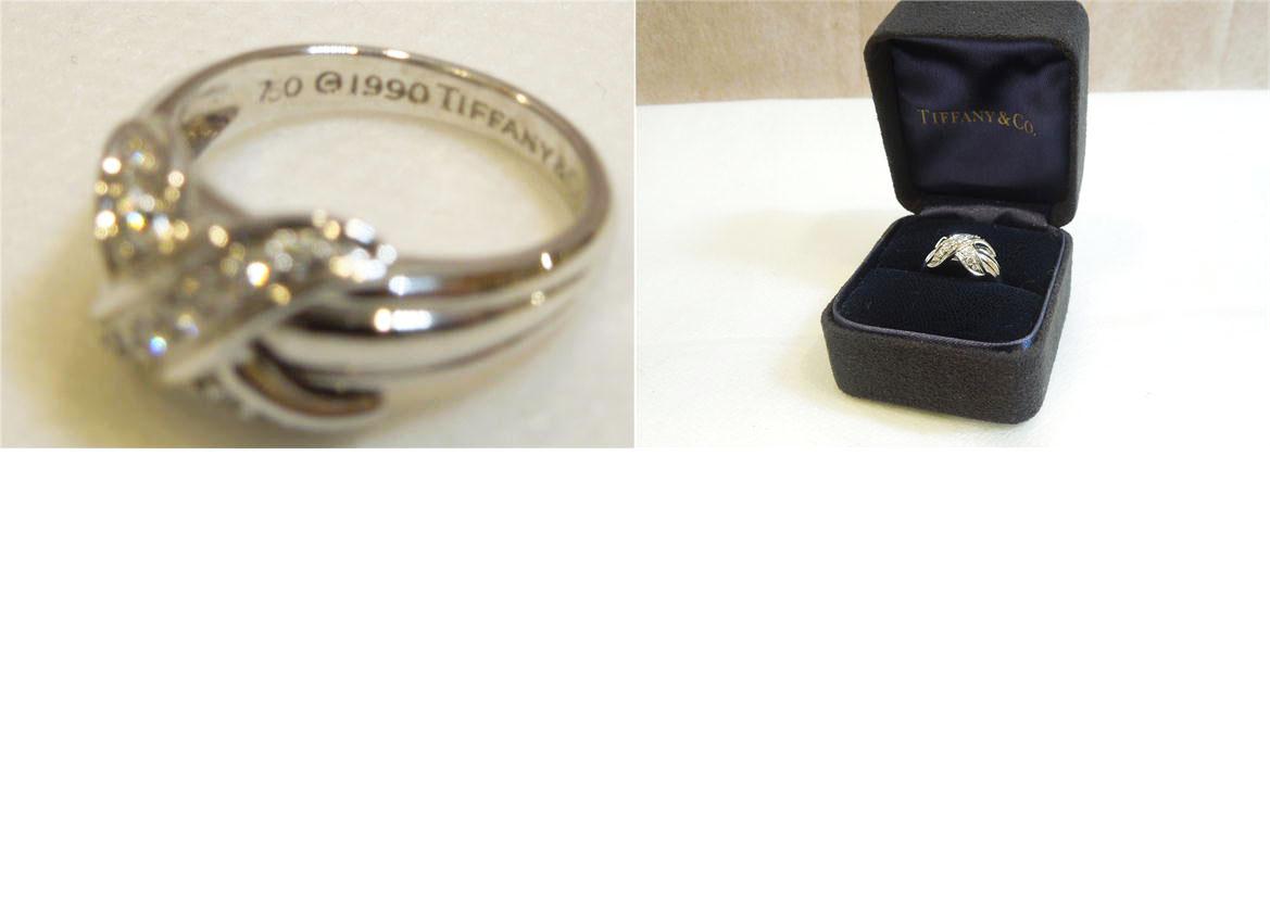 美品TIFFANY Coティファニー ティファニーシグネチャーエックスモチーフ リング750 19905 6g、k18W、ダイヤ15P、8号アクセサリー指輪 リングレディース ○Aランク89nNv8wm0