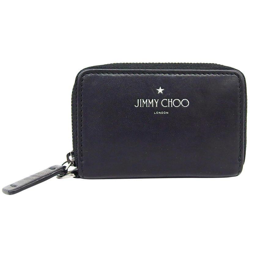 20416869-25-4O-9264800406580 Jimmy Chooジミーチュウ 格安 価格でご提供いたします ダニー レザーコインケース ブラック 中古 セール 小物 財布 04 Bランク