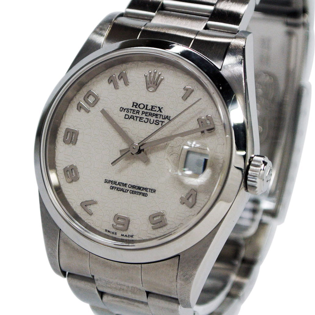 【ABランク】ROLEX ロレックス デイトジャスト Ref. 16200 オートマチック/自動巻き ホワイト/白文字盤 【安心の1年間保証】【メンズ □】【腕時計】【中古】【91】