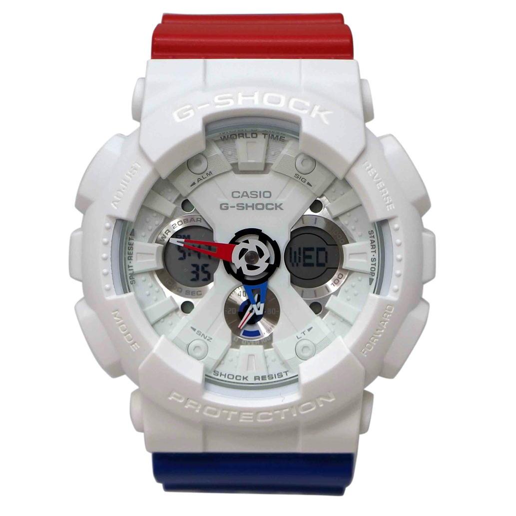 【美品】【Aランク】CASIO カシオ G-SHOCK ジーショック トリコロールカラー Ref. GA-120TRM クオーツ/電池式 アナデジ文字盤 【安心の6ヶ月保証】【メンズ □】【腕時計】【中古】【78】