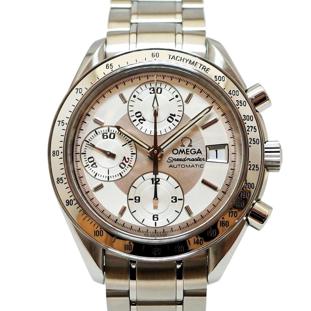 美品 OMEGAオメガ Speedmaster Date スピードマスターデイト クロノグラフ Ref3513 3オートマチック 自動巻きシルバー文字盤安心の1年間保証メンズ □腕時計Aランク90LRj4c35Aq