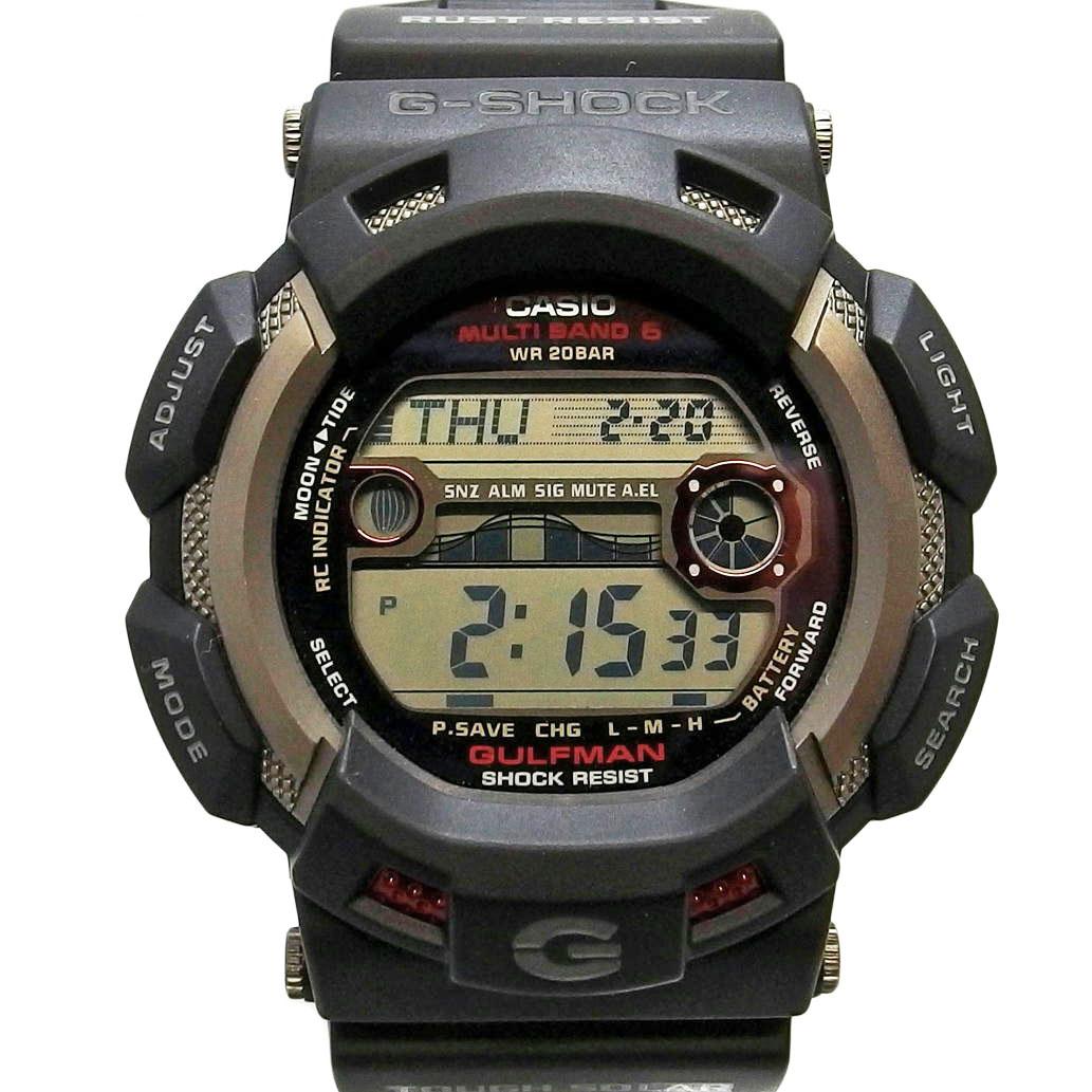 【美品】CASIO カシオ G-SHOCK ジーショック GULFMAN ガルフマン Ref. GW-9110 電波ソーラー デジタル文字盤 【安心の6ヶ月保証】【メンズ □】【腕時計】【中古】【Aランク】【86】