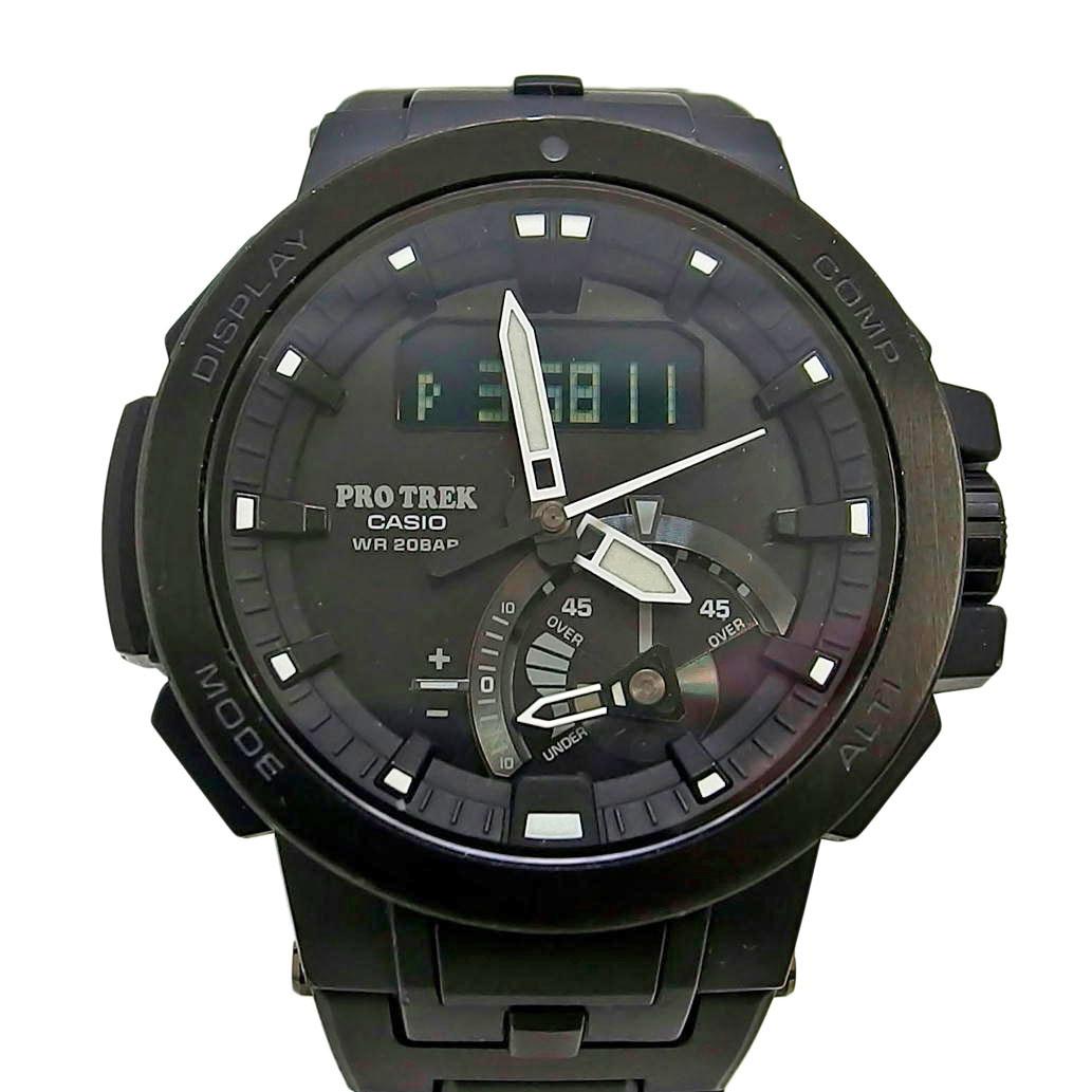 CASIO カシオ PROTREK プロトレック Ref. PRW-7000C 電波ソーラー ブラック/黒文字盤 【安心の6ヶ月保証】【メンズ □】【腕時計】【中古】【ABランク】【75】
