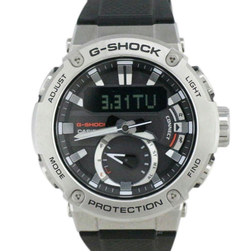 【美品】CASIO カシオ G-SHOCK G-STEEL Gスチール Bluetooth Ref. GST-B200 ソーラー アナデジ文字盤 【安心の6ヶ月保証】【メンズ □】【腕時計】【中古】【Aランク】【63】
