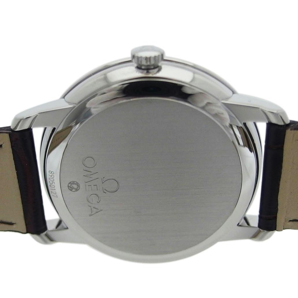 美品 OMEGA オメガ De Ville デ・ヴィル デ・ビル プレステージ コーアクシャル Ref424 13 40 20 02 001オートマチック 自動巻きシルバー文字盤安心の1年間保証メンズ □腕時計Aランク803ALcS45Rjq