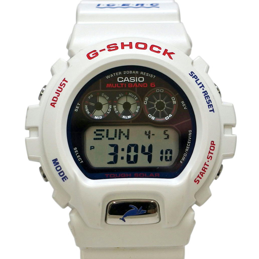 CASIO カシオ G-SHOCK イルカクジラ ホワイト/白 Ref. GW-6901K-7JR ソーラー デジタル文字盤 【安心の6ヶ月保証】【メンズ □】【腕時計】【中古】【ABランク】【69】