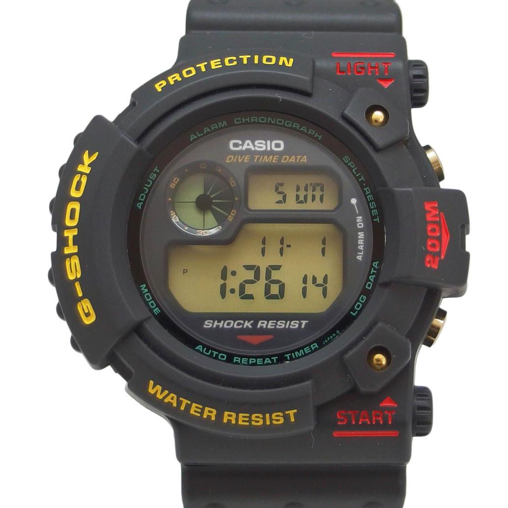 【半額】 【美品】CASIO (カシオ) G-SHOCK 初代FROGMAN Ref. DW-6300 クオーツ/電池式 ブラック×イエロー文字盤 【安心の6ヶ月保証】【メンズ □】【腕時計】【Aランク】【82】, 赤池町 f7d67041