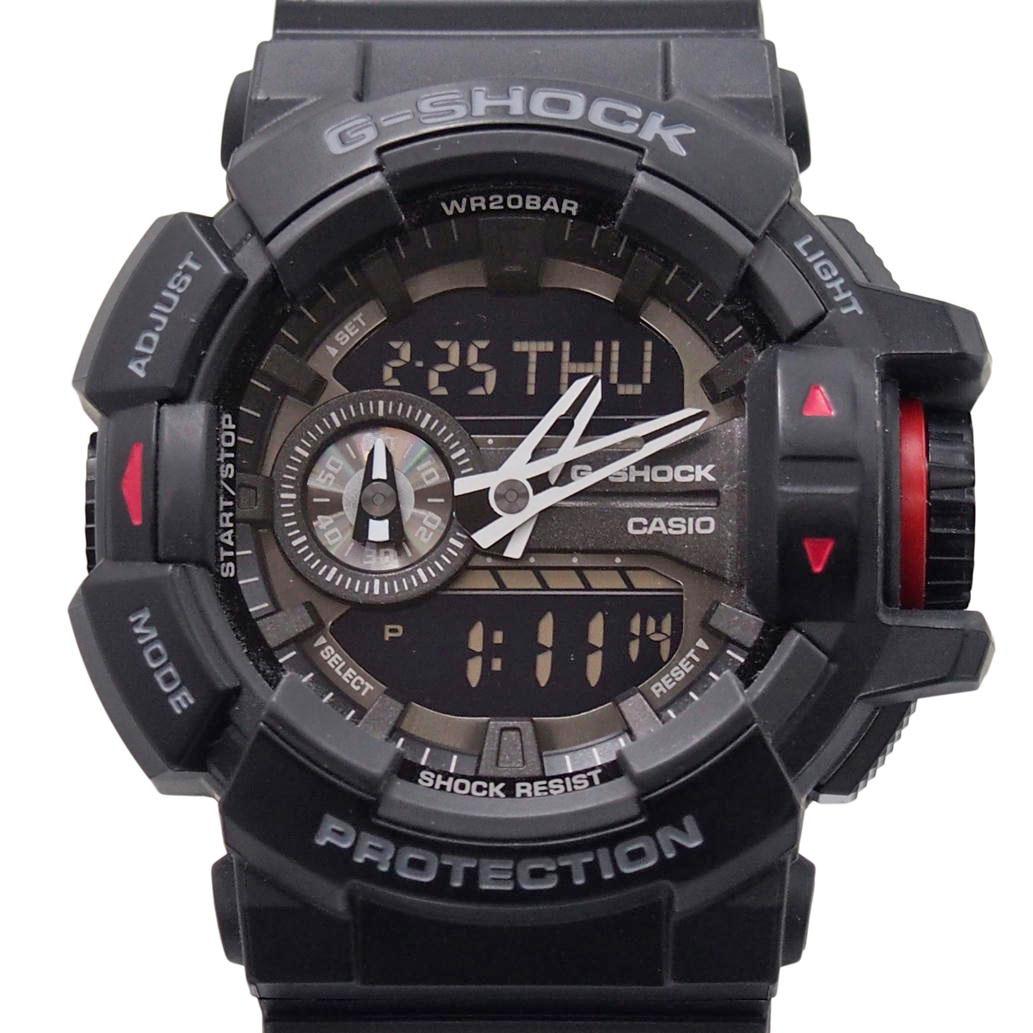 17616868-26C1E-9266020017843 美品 CASIO カシオ G-SHOCK Ref. GA-400-1B1J ブラック文字盤 安心の6ヶ月保証 76 メンズ 実物 Aランク 一部予約 腕時計 中古