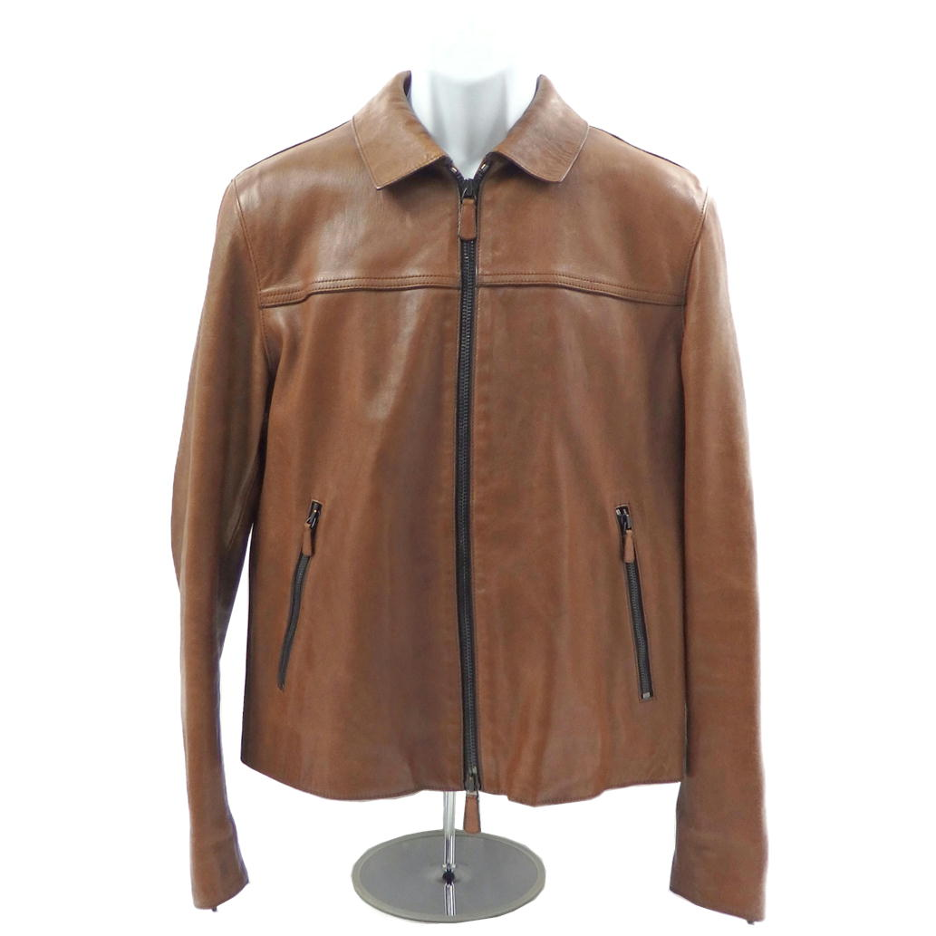 【Bランク】【サイズ:S】COACH コーチ羊革 シングルライダースジャケット【メンズ】【レザー/本革】【中古】【77】