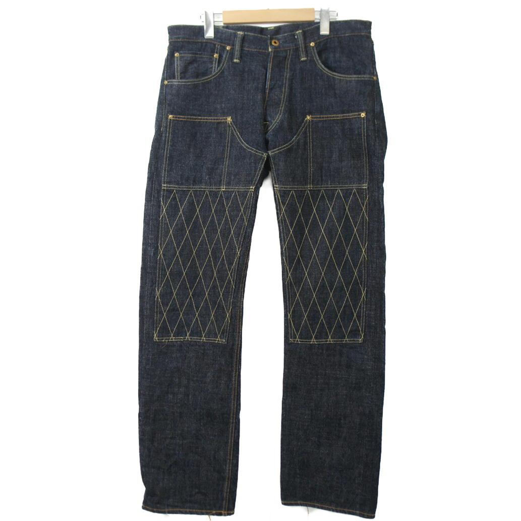 【Bランク】【サイズ:36】TROPHY CLOTHING トロフィークロージングダブルニーデニムパンツ【メンズ】【ボトム/パンツ】【中古】【75】