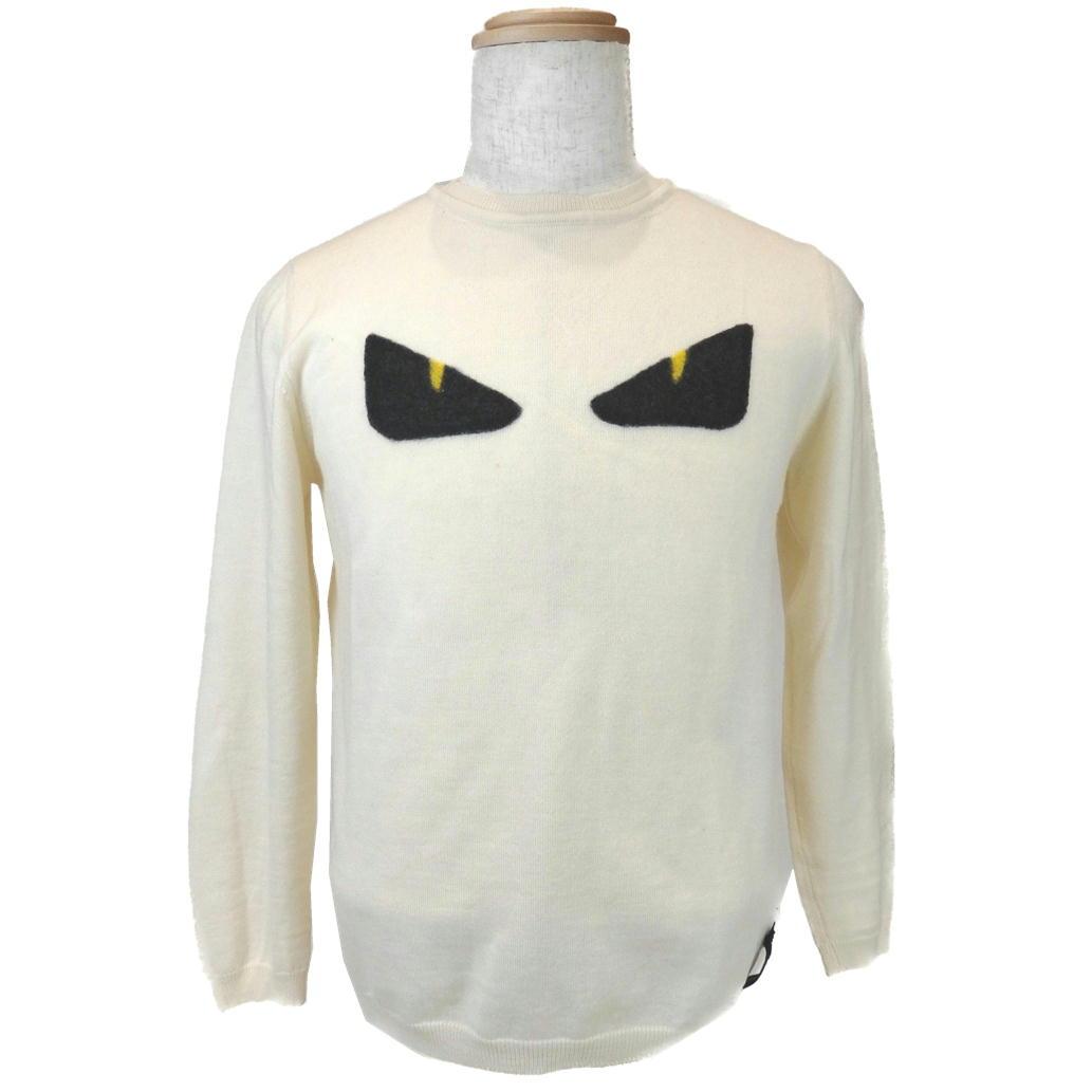 【Bランク】【サイズ:#46】FENDI フェンディバッグバグズ セーター【メンズ】【長袖】【中古】【93】
