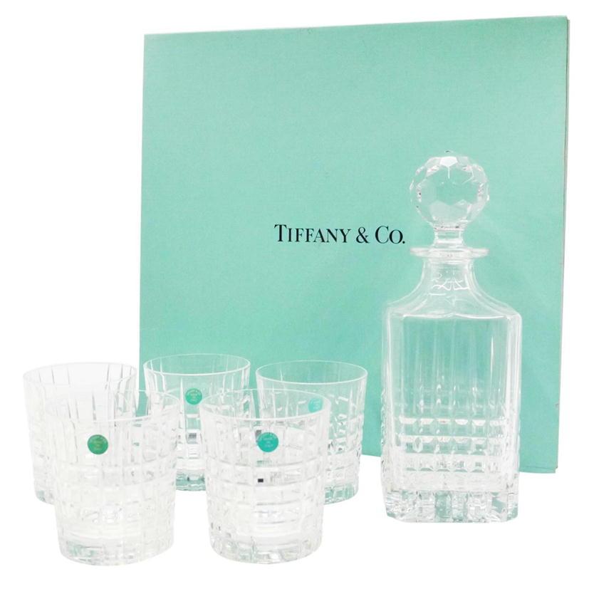 メーカー公式ショップ 36916765-0703R-9264691434006 TiffanyCo 定番キャンバス ティファニー デキャンタ グラス5個セット 69 ABランク 食器セット 中古
