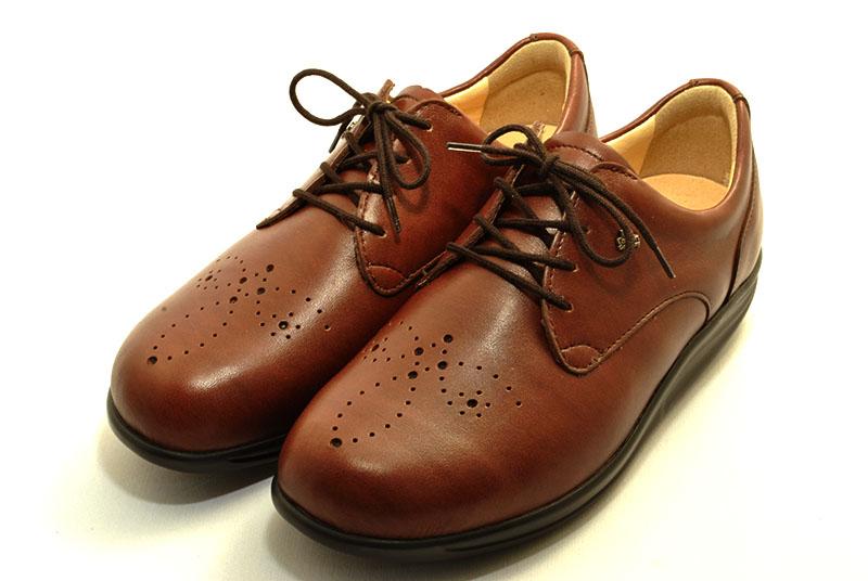 finn comfort フィンコンフォート フィンナミック finnamic 靴 レディース 神楽坂 KAGURAZAKA ブラウン ウイングチップ ウオーキングシューズ