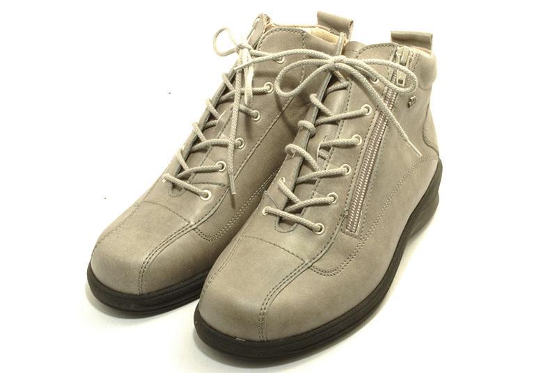 finn comfort フィンコンフォート ショートブーツ FURANO 富良野 2497 グレイ インソールの入ったブーツ