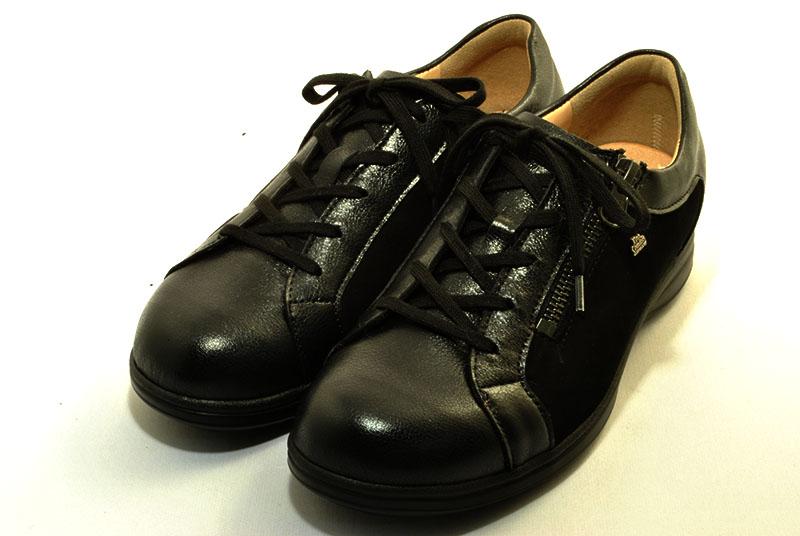 finncomfort フィンコンフォート 2231 BEXLEY ブラック/ブラックヌバック made in Germany ドイツ製コンフォートシューズ 外反母趾対応靴