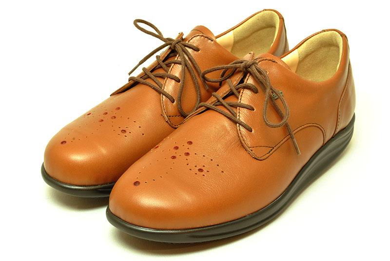 finn comfort フィンコンフォート フィンナミック finnamic 靴 レディース 神楽坂 KAGURAZAKA サドルブラウン ウイングチップ ローリングシューズ