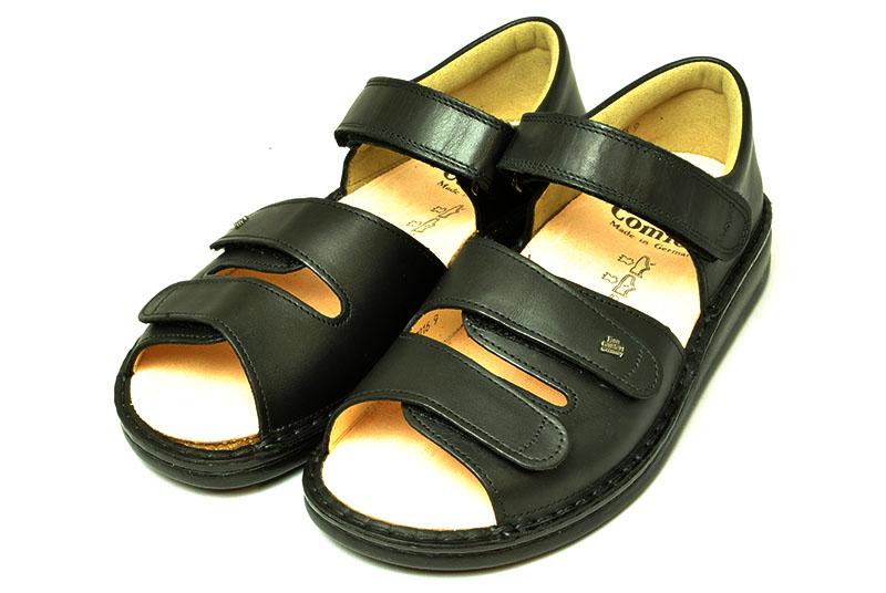 フィンコンフォート finn comfort カウンターサンダル BALTRUM 黒 室内履きや事務所履きとしても 外反母趾 タコ・魚の目 扁平足 足底筋膜炎など足のトラブル対応