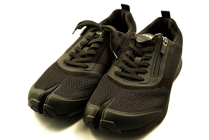足袋型ウォーキングシューズ NEW ラフィート VOL7 黒 更に進化したlafeet。上級シューフィッターおすすめです。