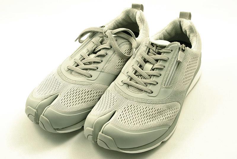 外反母趾対応 岡本製甲 NEW lafeet 07 足袋型ウォーキングシューズ グレー 更に進化したlafeet。上級シューフィッターおすすめ 転倒防止にも