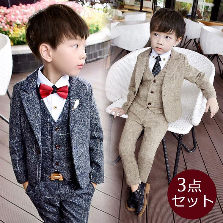 ffd0a693943bc 男の子 子供服 子供 フォーマル スーツ ベビー服 子供 男の子 フォーマル スーツ キッズスーツ ベスト 上下セット