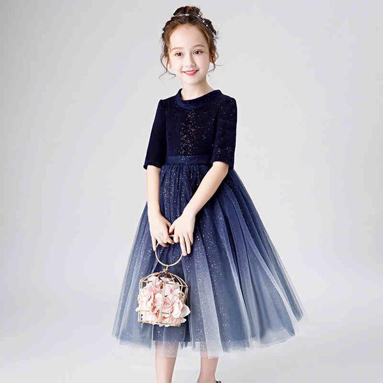 b3f25e705ab32 子供ドレス ロング パーティードレス 発表会 キッズ フォーマル ワンピース 七五三 子供ドレス ロング パーティードレス