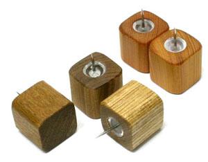 実用的かつインテリアにもぴったりの木の文具!! 木製文具 木の押しピン木のピン 小
