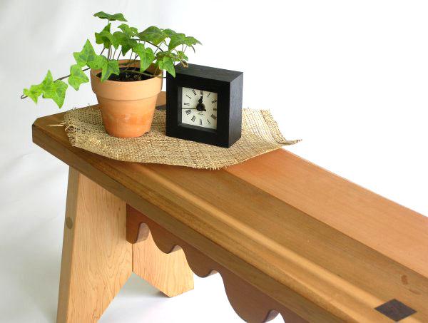 木製ベンチ 木のイス 日本製アンティークインテリアベンチ