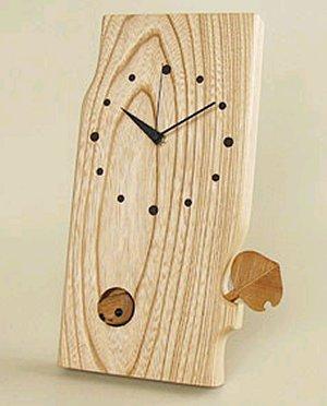 木製雑貨 木の時計小さな森の時計