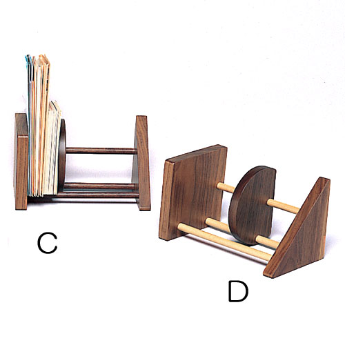 本立て CD立て 25%OFF 木製 ○△を基調としたさりげなく遊び心のあるデザインです CDや単行本 手紙等の整理にご利用いただけます フリースタンド D ドリーミィーパーソン C 旭川クラフト 100%品質保証