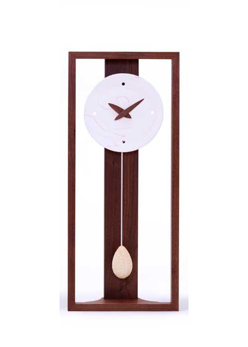 時計 木製 Marble(マーブル)丸-白 ドリーミィーパーソン 旭川クラフト