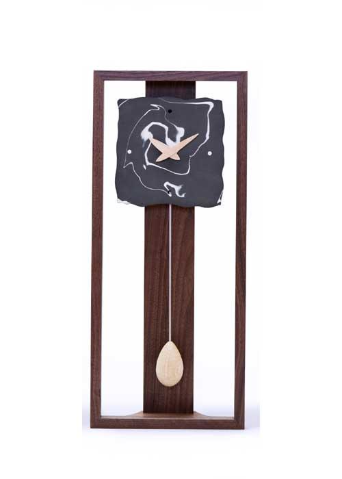 時計 木製 Marble(マーブル)角-黒 ドリーミィーパーソン 旭川クラフト