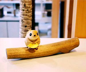 木彫り ももんが ももんがの小枝 うぃるびぃ工房 北海道 旭川クラフト