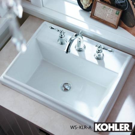 KOHLER 水栓シンクセット WS-KLR-A ケルストン混合栓 トレシャム洗面器 ケルストンタオルリング Tresham Kelston コーラー まとめ買い