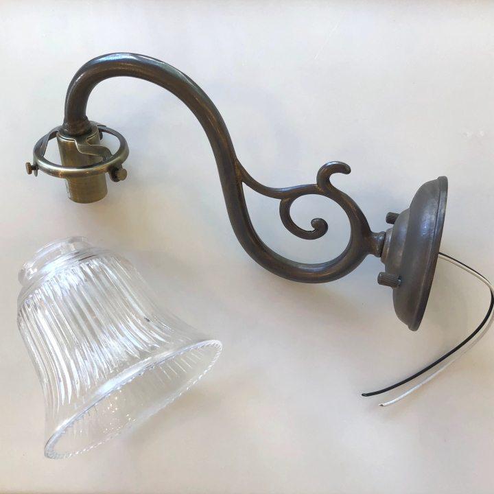 ブラケットライト SB8-A + ランプシェード SY-113 セット アンティーク色 照明器具 灯具 ブラケット灯具 照明 ブラケット