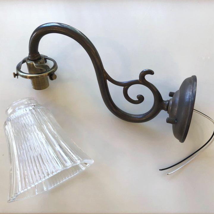 ブラケットライト SB8-A + ランプシェード SY-117 セット アンティーク色 照明器具 灯具 ブラケット灯具 照明 ブラケット