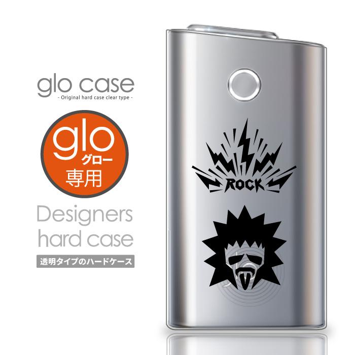 glo専用のオシャレなデザインケースが登場 メール便 直営ストア 送料無料 glo グロー ケース ロック ROCK バリバリ パンク カバー 電子タバコ おしゃれ クリアケース 可愛い 人気 再再販 保護 クリアカバー デザインケース