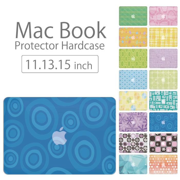 【 MacBook Pro & Air 】【メール便不可】 デザイン シェルカバー シェルケース macbook pro 16 15 13 ケース air 11 13 retina display マックブック 花柄 シンプル デザイン イラスト アート模様ドットストライプ 色鮮や カラフル:woodgreen スマホケースの町