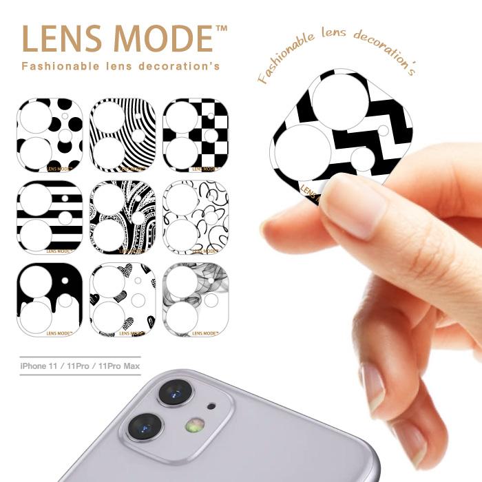 iPohne 11 11Pro 11ProMax 春の新作シューズ満載 カメラ デコ シンプル モノクロ LENS チェック MODE スマホアクセサリー カメラデコ ブランド ドットLENS ドット 買収