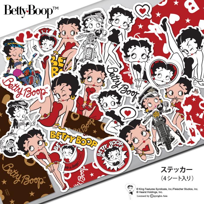 可愛くて人気の ベティー ブープ TM 送料無料/新品 ステッカー キャラクター ベティーちゃん 売り込み グッズ 人気 おしゃれ 送料無料 可愛い 正規品 Betty Boop シール