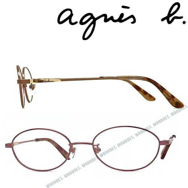 agnes b. メガネフレーム アニエスベー レディース ピンク 眼鏡 AB-50-0035-02 ブランド